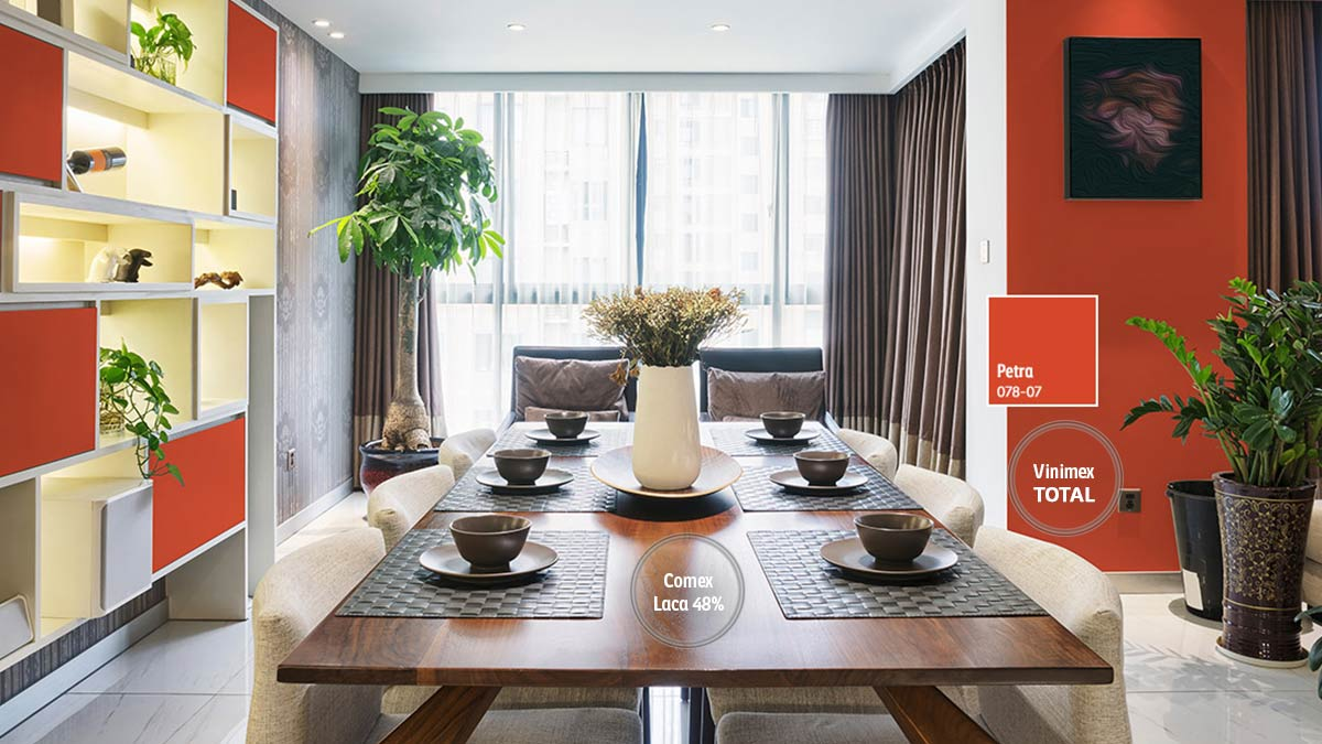 Decoraci n de espacios para comedores comex for Objetos decorativos para oficina